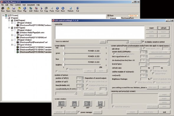 software per led screen