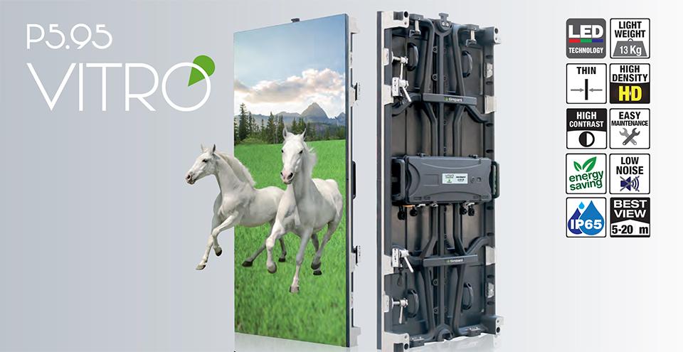 schermo a led passo 5.95 mm alta risoluzione, vendita e assistenza, montaggio rapido, manutenzione